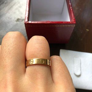 Cartier Love Ring Rose Gold size 4.75